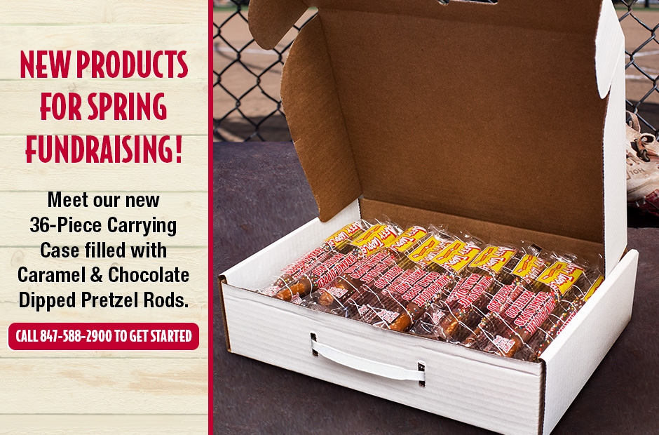New Products for Spring Fundraising! Meet our New 36-Piece Caramel and Chocolate Dipped Carrying Case
